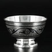 Серебряная пиала Кубачи ручной работы арт.10222