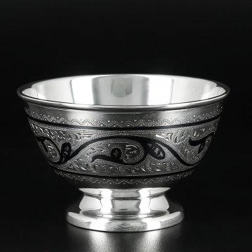 Серебряная пиала Кубачи ручной работы