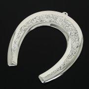 Кубачинская серебряная подкова ручной работы большая арт.10978
