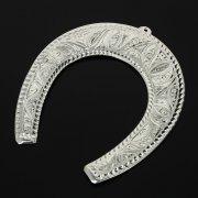 Кубачинская серебряная подкова ручной работы большая арт.10984