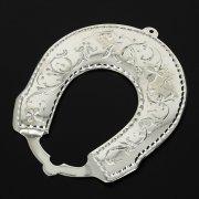 Кубачинская серебряная подкова ручной работы малая арт.10995