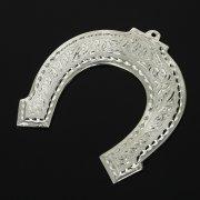 Кубачинская серебряная подкова ручной работы малая арт.10997