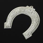 Кубачинская серебряная подкова ручной работы малая арт.10998