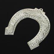 Кубачинская серебряная подкова ручной работы малая арт.10999