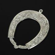 Кубачинская серебряная подкова ручной работы малая арт.11000