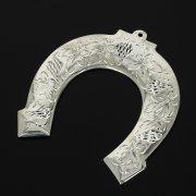 Кубачинская серебряная подкова ручной работы малая арт.11008