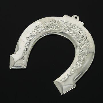 Кубачинская серебряная подкова ручной работы малая