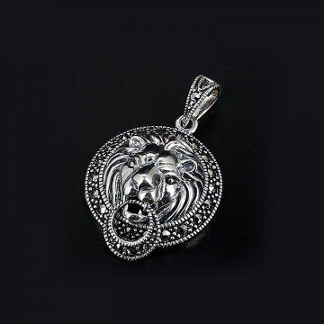 Серебряная подвеска (марказит)