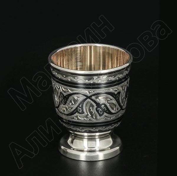 Серебряная стопка Кубачи ручной работы арт.11656