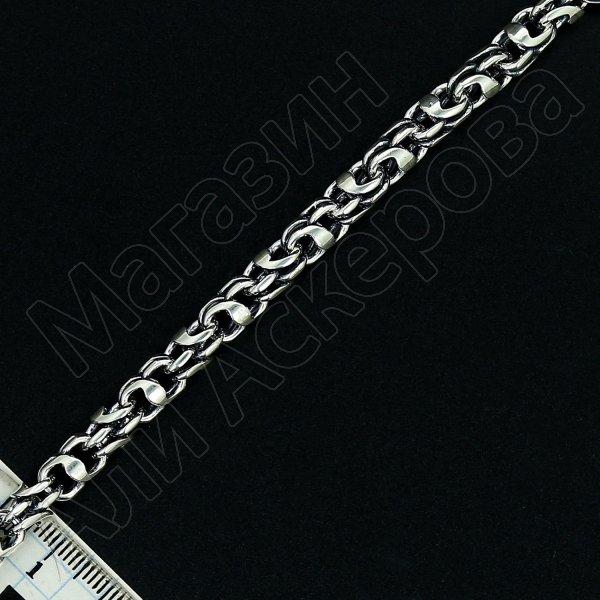 Серебряная цепь Гавайка 70 см (ширина 0,7 см)