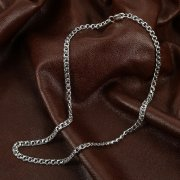 Серебряная цепь Бисмарк 45 см (ширина 0,4 см)