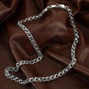 Серебряная цепь Бисмарк 55 см (ширина 0,7 см) арт.12343