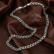 Серебряная цепь Бисмарк 60 см (ширина 0,7 см) арт.12346
