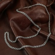 Серебряная цепь Бисмарк 65 см (ширина 0,4 см) арт.12350