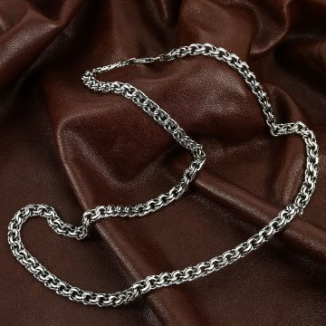 Серебряная цепь Бисмарк 65 см (ширина 0,7 см)