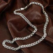 Серебряная цепь Бисмарк 60 см (ширина 0,7 см) арт.12359