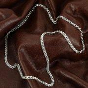 Серебряная цепь Бисмарк 60 см (ширина 0,4 см) арт.12360