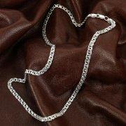 Серебряная цепь Бисмарк 55 см (ширина 0,5 см) арт.12363