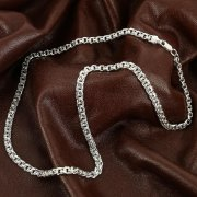 Серебряная цепь Бисмарк 55 см (ширина 0,6 см) арт.12365