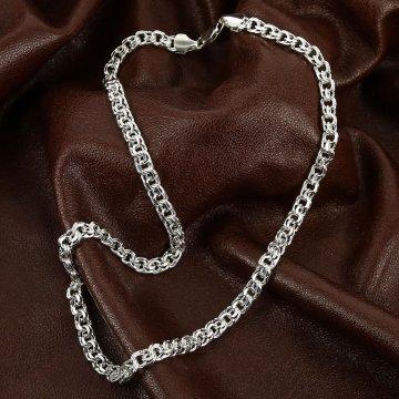 Серебряная цепь Бисмарк 50 см (ширина 0,6 см)