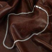 Серебряная цепь Бисмарк 45 см (ширина 0,4 см) арт.12371