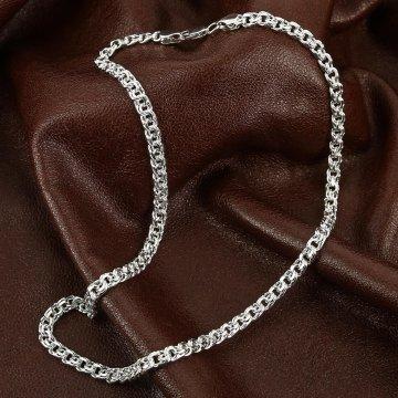 Серебряная цепь Бисмарк 45 см (ширина 0,5 см)