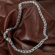 Серебряная цепь Бисмарк 70 см (ширина 1,1 см)