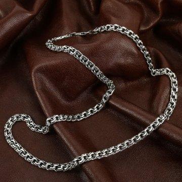 Серебряная цепь Бисмарк 65 см (ширина 0,8 см)