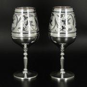 Серебряные бокалы Кубачи ручной работы (2 персоны) арт.10681