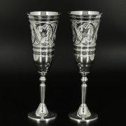 Серебряные фужеры Кубачи ручной работы (2 персоны) арт.10671