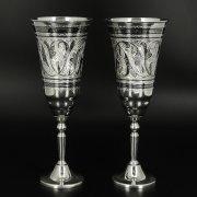 Серебряные фужеры Кубачи ручной работы (2 персоны) арт.10682