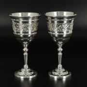 Серебряные рюмки Кубачи ручной работы (2 персоны) арт.10824