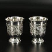 Серебряные стопки Кубачи ручной работы (2 персоны) арт.10821