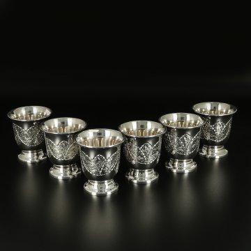 Серебряные стопки Кубачи ручной работы (6 персон)
