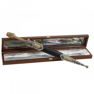 Кубачинский кинжал с цельной рукоятью (сталь - 65Х13, рукоять - дерево)