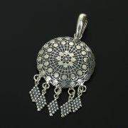 Кубачинский серебряный кулон с филигранью ручной работы арт.10911