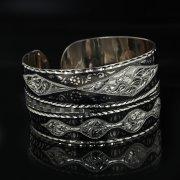 Серебряный кубачинский браслет с чернением арт.11084