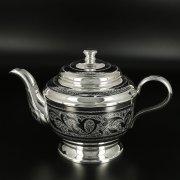 Серебряный чайник Кубачи ручной работы арт.10811