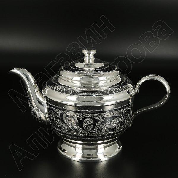 Серебряный чайник Кубачи