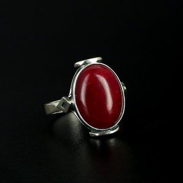 Серебряное кольцо с филигранью (сердолик)