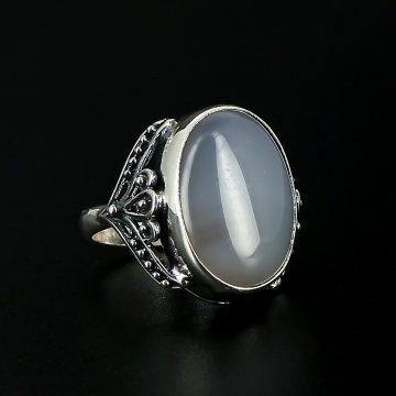 Серебряное кольцо с филигранью (кварц)