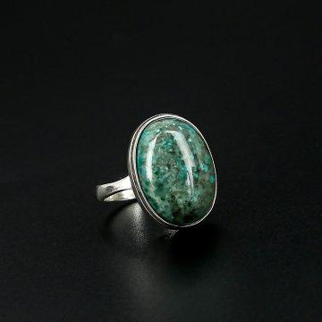 Серебряное кольцо (хризоколла)