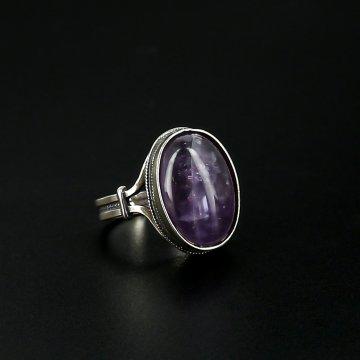 Серебряное кольцо (аметист)