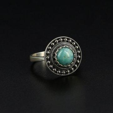 Серебряное кольцо (амазонит)