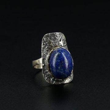 Серебряное кольцо (лазурит)