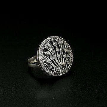 Серебряное кольцо Созвездие (фианит)