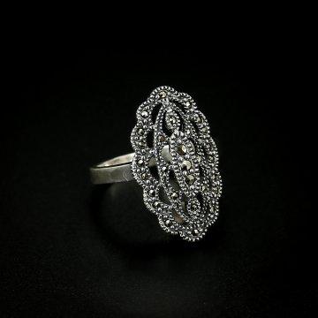 Серебряное кольцо (марказит)