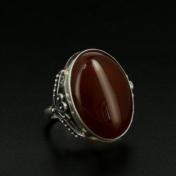 Серебряное кольцо (сердолик)