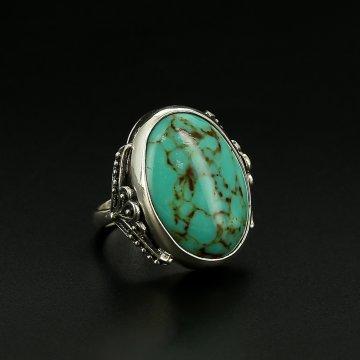 Серебряное кольцо (прессованная бирюза)