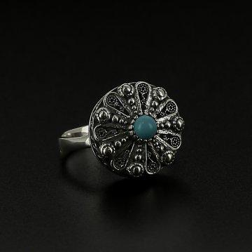 Серебряное кольцо (бирюза)